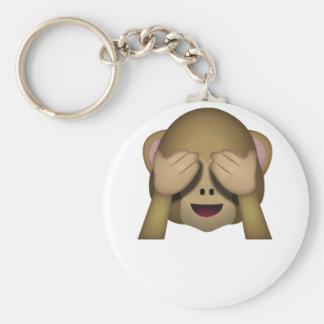 Niedlich sehen Sie keinen schlechten Affen Emoji Schlüsselanhänger