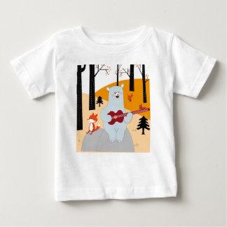 Niedlich singen Sie einen Sommerlied-Fuchswolf und Baby T-shirt