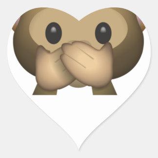 Niedlich sprechen Sie keinen schlechten Affen Herz-Aufkleber
