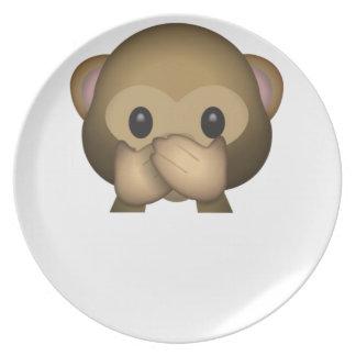 Niedlich sprechen Sie keinen schlechten Affen Melaminteller