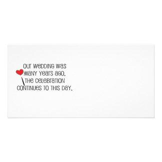 """Niedlich, """"unsere Hochzeits-"""" Heiratzitat Photokartenvorlage"""