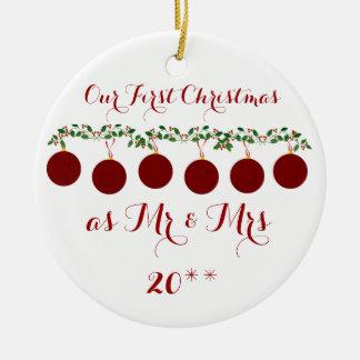 Niedlich verzieren unser erstes Weihnachten Keramik Ornament
