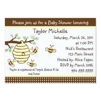 Niedlich, wie Bienen-Baby-Duschen-Einladung kann