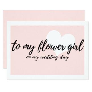 Niedlich zu meinem Blumenmädchen an meinem 12,7 X 17,8 Cm Einladungskarte