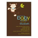 Niedliche Affe-Jungen-Baby-Duschen-Einladung