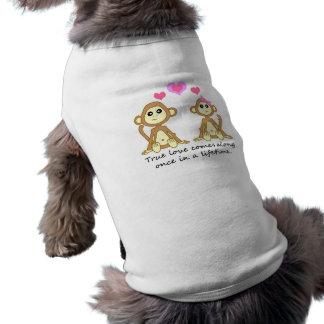 Niedliche Affen - wahre Liebe kommt entlang einmal Shirt