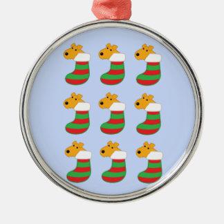 Niedliche Airedale-Hunde in der Silbernes Ornament