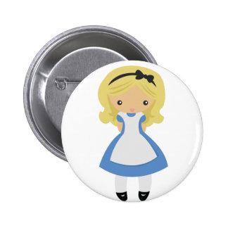 Niedliche Alice im Wunderland KRW Runder Button 5,7 Cm