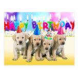 Niedliche alles Gute zum Geburtstagwelpen Postkarte