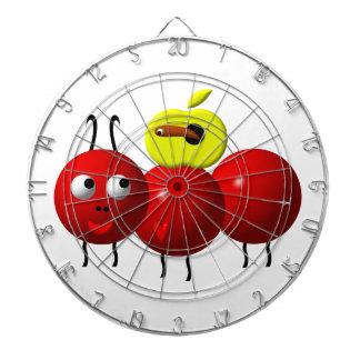 Niedliche Ameise mit Apple Dartscheibe