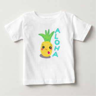 Niedliche Ananas sagt Aloha Baby T-shirt