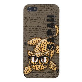 Niedliche Anime-Leopard-Nerd-Gläser iPhone 5s iPhone 5 Schutzhüllen