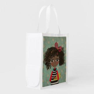 Niedliche Augen-Tasche Puppen-Afrikas Wiederverwendbare Einkaufstasche
