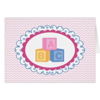 Niedliche Baby ABC-Blöcke Karte