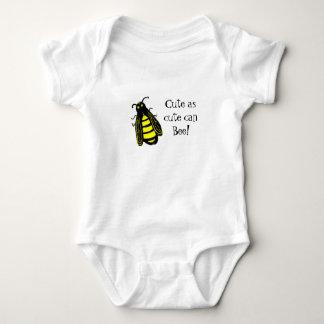 Niedliche Baby-Bienen-Honigbiene mit Spaß-Text Baby Strampler
