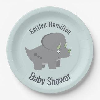Niedliche Baby-Dusche des Dinosaurier-|, zum der Pappteller