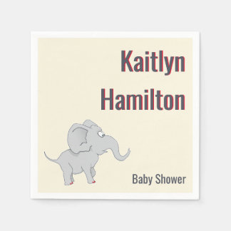 Niedliche Baby-Dusche des Elefant-|, zum der Papierservietten