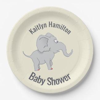 Niedliche Baby-Dusche des Elefant-|, zum der Pappteller