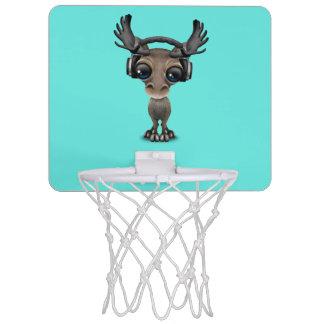 Niedliche Baby-Elch-tragende Kopfhörer Mini Basketball Ring