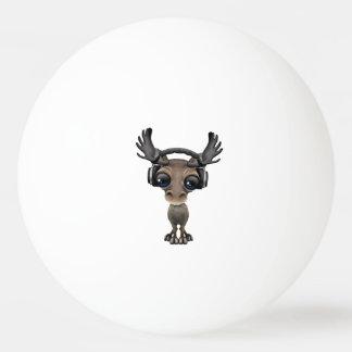 Niedliche Baby-Elch-tragende Kopfhörer Tischtennis Ball