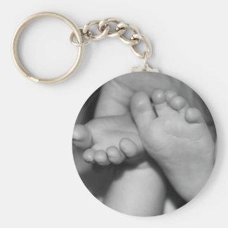 Niedliche Baby-Füße Schlüsselanhänger