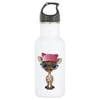 Niedliche Baby-Giraffetragender Pussy-Hut Edelstahlflasche