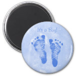 Niedliche Baby-Jungen-Abdruck-Geburts-Mitteilung Kühlschrankmagnet