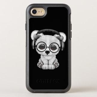 Niedliche Baby-polarer Bärn-tragende Kopfhörer OtterBox Symmetry iPhone 8/7 Hülle