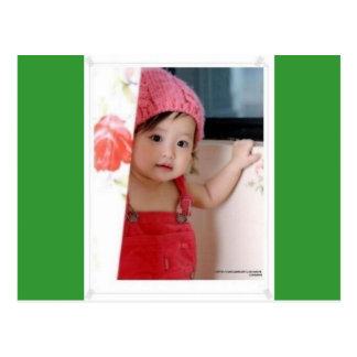 Niedliche Baby-Postkarte Postkarte