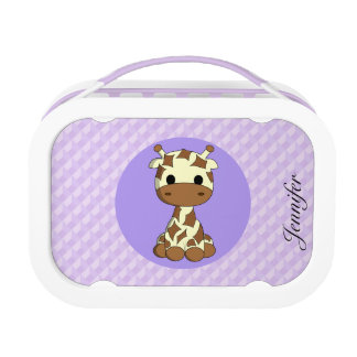 Niedliche Babygiraffe kawaii Cartoon-Namenmädchen Brotdose