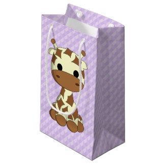Niedliche Babygiraffen-Cartoonkinder Kleine Geschenktüte