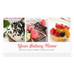 Niedliche Bäckerei-Geschäfts-Karte mit 4 Fotos Visitenkartenvorlage