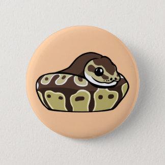Niedliche Ball-Pythonschlange-Haustier-Schlange, Runder Button 5,7 Cm