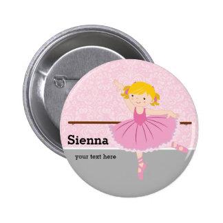 Niedliche Ballerina Runder Button 5,1 Cm