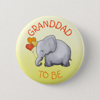 Niedliche Ballon-Elefant-Baby-Dusche Opa-Zu-Ist Runder Button 5,1 Cm