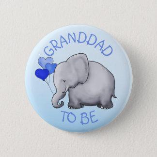 Niedliche Ballon-Elefant-Baby-Dusche Opa-Zu-Ist Runder Button 5,7 Cm