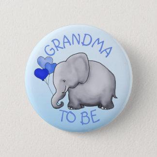 Niedliche Ballon-Elefant-Baby-Dusche Runder Button 5,7 Cm