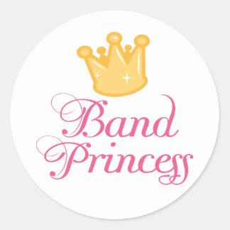 Niedliche Band-Prinzessin Music Gift Runder Aufkleber