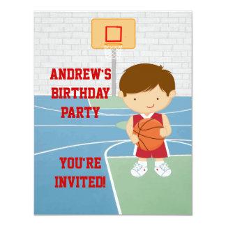 Niedliche Basketball-Kindergeburtstag Party 10,8 X 14 Cm Einladungskarte