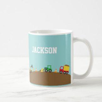 Niedliche Bau-Fahrzeuge für Jungen Kaffeetasse