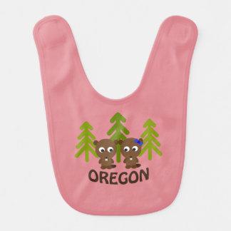 Niedliche Biber-Paare Oregon Babylätzchen