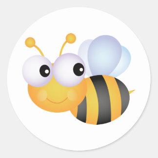 Niedliche Biene Runder Aufkleber