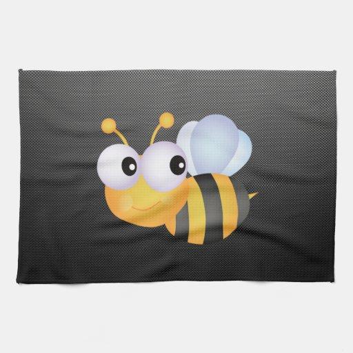 Niedliche Biene; Glatt Handtücher