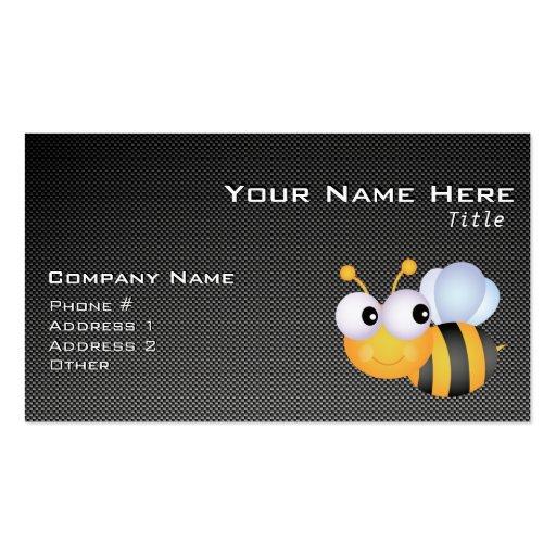 Niedliche Biene; Glatt Visitenkarten Vorlage