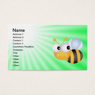Niedliche Biene; Grün Visitenkarten