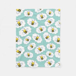 Niedliche Bienen-Fleecedecken Fleecedecke