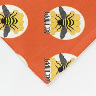 Niedliche Bienen-glückliche Fleecedecke