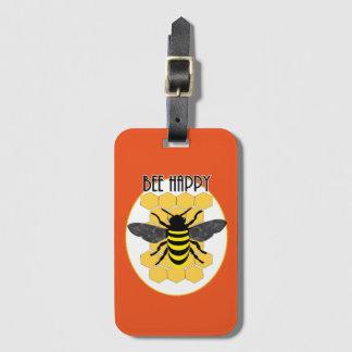 Niedliche Bienen-glückliche Kofferanhänger