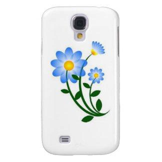 Niedliche blaue Blume Galaxy S4 Hülle