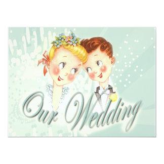 Niedliche blaue Braut-u. 16,5 X 22,2 Cm Einladungskarte